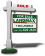 LAND/MAX REALTY INC., BROKERAGE real estate logo