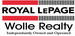 ROYAL LEPAGE WOLLE REALTY real estate logo