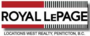 ROYAL LEPAGE LOCATIONS WEST real estate logo