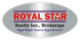 ROYAL STAR REALTY INC., BROKERAGE real estate logo