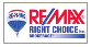 RE/MAX RIGHT CHOICE INC. real estate logo