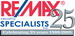 Remax Realty Specialists Inc real estate logo