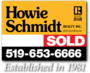 HOWIE SCHMIDT REALTY INC., BROKERAGE real estate logo