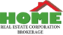 HOME REAL ESTATE CORPORATION real estate logo