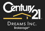 CENTURY 21 DREAMS INC. real estate logo