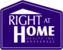 RIGHT AT HOME REALTY INC. real estate logo