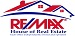 RE/MAX HOUSE OF REAL ESTATE real estate logo