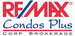 RE/MAX CONDOS PLUS CORPORATION real estate logo