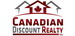 CANADIAN DISCOUNT REALTY INC., BROKERAGE real estate logo