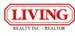 LIVING REALTY INC. real estate logo