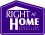 RIGHT AT HOME REALTY INC., BROKERAGE real estate logo