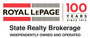 ROYAL LEPAGE STATE REALTY., BROKERAGE real estate logo