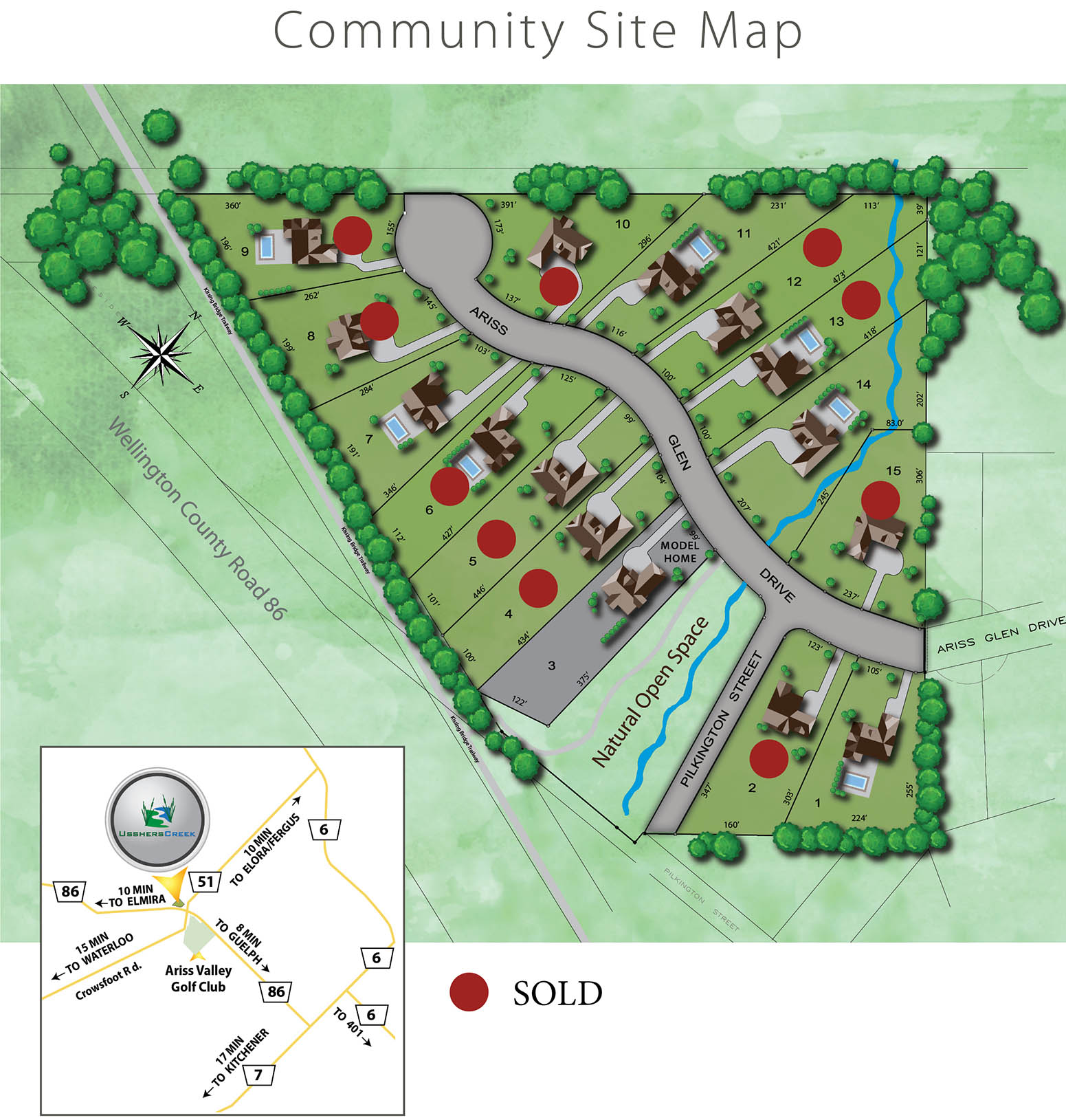 House Site Map Example: New Home Community Development In Guelph