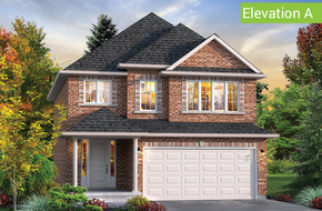 Manor Elevation A model home in