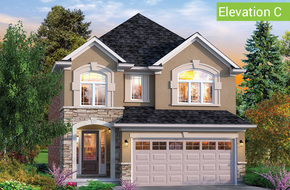 Manor Elevation C (3 or 4 bed) model home in