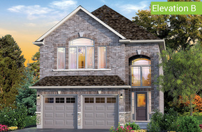 Mapleview Elevation B (3 or 4 bed) model home in