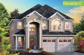 Casa Bianca Elevation C model home in