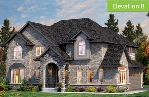 Amberley Elevation B (3 or 4 bed) model home in