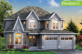York Elevation C model home in