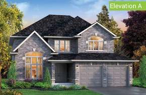 York Elevation A model home in