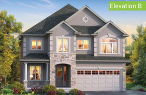 Firenze Elevation B (4 or 5 bed) model home in