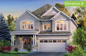Il Palazzo Elevation B model home in