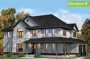 Norfolk Elevation B model home in