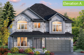 Florentine II Elevation A (4 or 5 bed) model home in