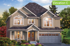 Florentine II Elevation C(4 or 5 bed) model home in