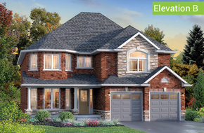 Windsor Elevation B (4 or 5 bed) model home in