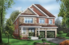 Huntington Two Elev 3 model home in