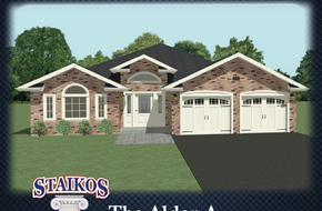 The Alder A & B model home in