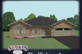 The Hickory A & B model home in