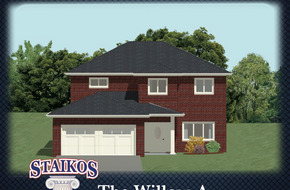 THe Willow A & B  model home in