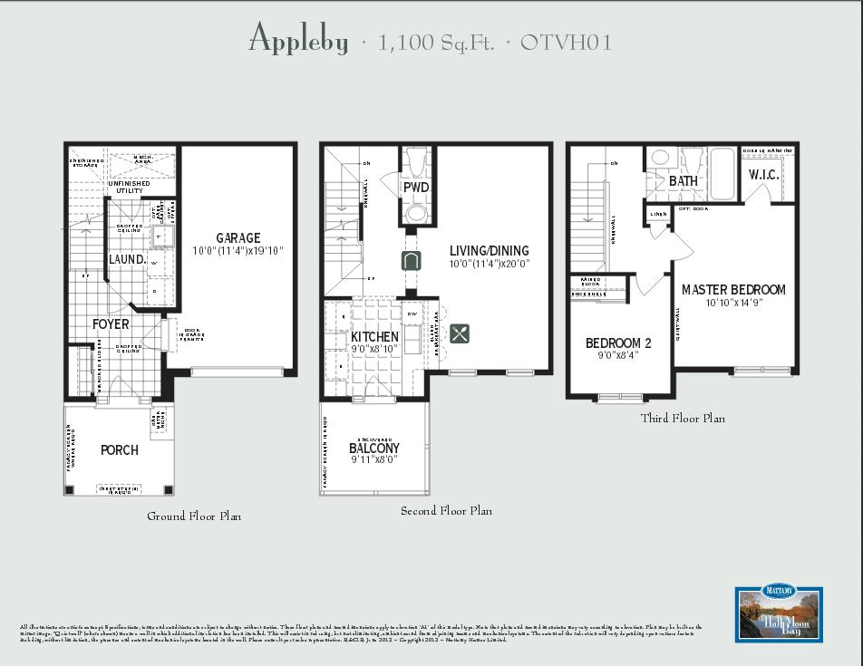 New home model appleby elevation a2 by builder mattamy for Floor plan finder