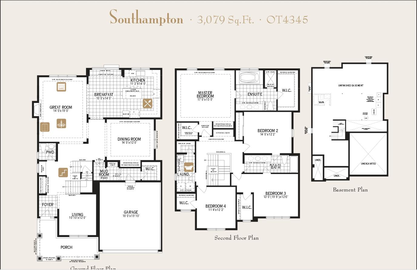 New Home Model Southampton Elevation A By Builder Mattamy